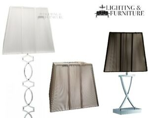 Elegant Zarra Square Pyramid Table Or Floor Lamp Shade Silk String Lamp Shades