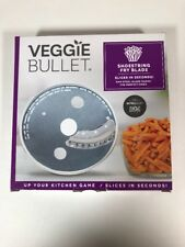 Veggie Bullet Shoestring Fry Blade Case Included 5mm Steel Slices In Seconds