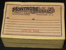Vtg Prescription Salesman Sample Box Advertising Montrose Pharmacy N.J.