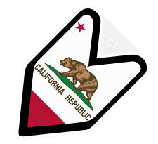 ## JDM WAKABA BADGE CALIFORNIA CALIFORNIAN Car Decal Flag not vinyl sticker ##