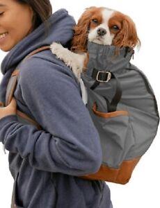 Dog K9 Sport Sack URBAN 2 Grey/Tan/Blue dog carrier backpack bike K9 sportsack