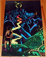 THE CASTLE Vampire Demon Horror Flocked Blacklight Poster 1971 Pro Arts