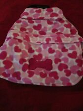 NWT East Side Collection Heart Fleece Dog Puppy Coat Small FREE Shipping