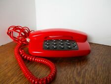 Vintage RADIO SHACK Push Button TELEPHONE Desk Phone RUBY RED 43-816 WORKS GREAT
