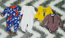 CLAESEN'S BABY, JOE FRESH, CARTER'S, PEKKLE SET OF 4 LOT ONESIES 3 MONTHS