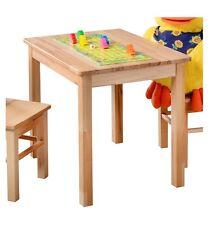 Kindertisch Beistelltisch  Spieltisch Kernbuche massiv holz 1199-3