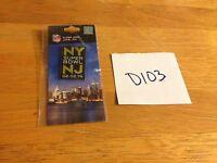 2014 NFL Super Bowl 48 New York New Jersey LAPEL PIN SEAHAWKS BRONCOS