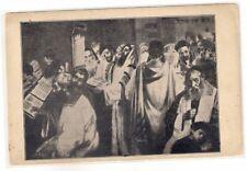 Judaica Great Old Jewish Theme Postcard Praying in Synagogue Yom Kippur