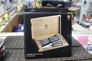 Zwilling J.A. Henckels 8 Piece Stainless Steel Steak Knife Set & Wooden Case