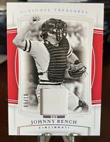 2020 National Treasures baseball Johnny Bench 9/10 Game Worn Patch!!! 🔥🔥🔥