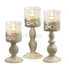 Vintage Style Table Galvanized Iron Candelabra Home Wedding Dining Candle