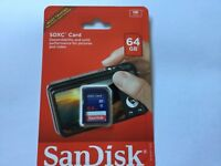 1pcs New sealed 64gb Sandisk micro SDXC MEMORY CARD Nikon Canon cameras