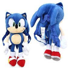 """Sonic Plush Figure Doll Bag Backpack  21"""" Custume Bag SEGA Licensed Zipper Back"""