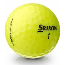 36 AAA Srixon Q Star Yellow Used Golf Balls +  Tees