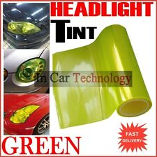 Car Motorcycle Scooter - HEADLIGHTS TINT VINYL FILM - LIME YELLOW - 30cm x 120cm