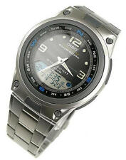 Casio Moon Phase Fishing Timer Alarms Analog-Digital Quartz Mens Watch AW-82D-1A