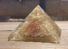 EXTRA LARGE (70-75mm) CITRINE ORGONE GEMSTONE X-LARGE PYRAMID ORGONITE