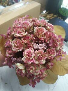 Artificial Silk rose nosegay bouquet - silk flower floral  arrangements