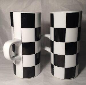 Just for Joseph Magnin Irish 2 Coffee  Coffee Mugs Black/White Checkerboard