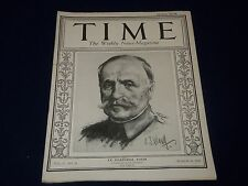 1925 MARCH 16 TIME MAGAZINE - LE MARECHAL FOCH COVER - T 36