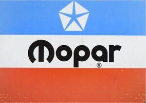 Mopar Logo Rusted - Tin Sign