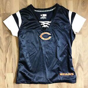 "Womens NFL Chicago Bears Team Apparel ""Draft Me"" Football Jersey Style T-Shirt"