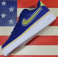 Nike Air Force 1 Low '07 NBA Shoes Oakland Warriors Royal Blue Gold [AJ7748-400]