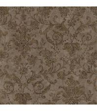 Formal Golden Scroll Damask Wallpaper 93902M