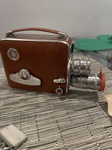 Vintage KEYSTONE TURRET 8 OLYMPIC K-35 Movie Camera, Case,Argus Light Meter