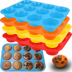 Muffin Form Silikon Backformen Cupcake Muffinform Förmchen Muffinblech Set 12er