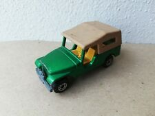 Matchbox Superfast n.53 Jeep CJ6 Verde Vintage Made in England 1977