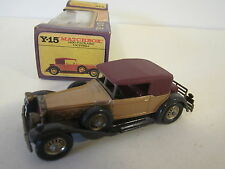 MATCHBOX Lesney YESTERYEAR Y15 1930 Packard Victoria asse ragnatele viola YELLOW Box