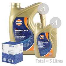 Engine Oil and Filter Service Kit 5 LITRES Gulf Formula CX 5w-30 Advanced 5L