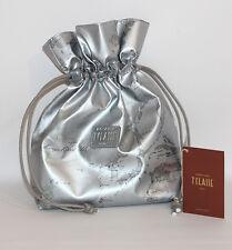 Prima Classe borsa mano pochette argento silver grigio Alviero Martini sacca