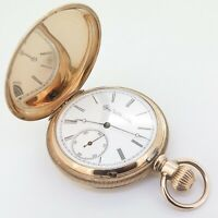 .A Wonderful C.1888 Elgin 16s Full Hunter 14K Solid Gold 51mm Pocket Watch