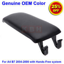 Leather Armrest Center Console Lid Cover for 2004-2008 Audi A4 S4 B7 Black hf