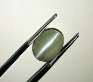 8.59 Ct Natural Chrysoberyl Cats eye Loose Oval Cabochon Certified Unheated Gem