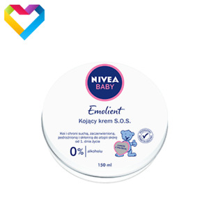 NIVEA BABY SOS PURE & SENSITIVE EMOLLIENT CREAM HYPOALLERGENIC 150ml 80523