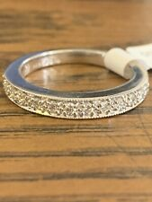 Vintage Design Wedding Band $1,950 New Tag Jabel 18K White Gold .26 cttw Diamond