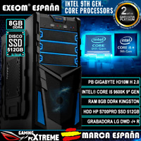 Ordenador Pc Gaming Intel Core i5 9600K 6xCORES 8GB DDR4 SSD 512GB de Sobremesa