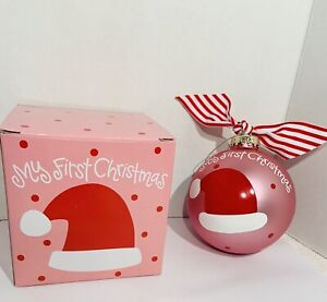 Coton Colors My First Christmas Ornament Glass New w/ Tag & Gift Box