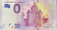 BILLET 0  EURO LA ROCHELLE LA GROSSE HORLOGE  FRANCE   2018  NUMERO 1000