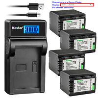 Kastar Battery LCD USB Charger for Panasonic VW-VBK360 & HDC-HS60 HDC-HS60K
