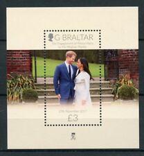 Gibraltar 2018 Prince Harry & Meghan Royal Engagement 1v M/S Royalty Stamps