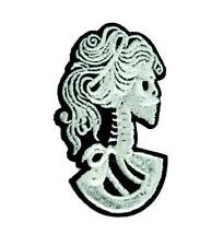 Lady of Death Skeleton Cameo Patch Iron on Applique Occult DIY Gothic Victorian