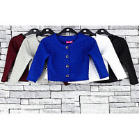 Girls Quilted Bolero Long Sleeve Girl Party Button Cardigan Shrug  7- 13 Years
