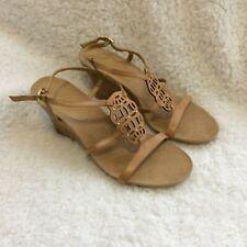 Anne Klein AK Cupid New Brown Wedges Sandals Size 9