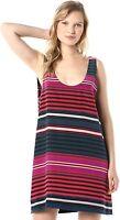 JOIE NWT $278 Dawna B 100% Silk Striped Lined Mini Tank Dress Size Large