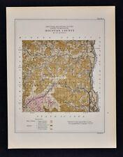 1884 Minnesota Geology Map  Houston County Caledonia Brownsville Freeburgh Hokah