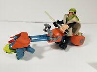Star Wars Jedi Force Luke Skywalker figure with Speeder Bike Playskool